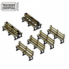 TE117 - 4Ground Building Kits - Red Iron Framed Benches x 6