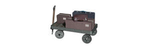 Hornby Parcels And Cases On Trolley - R8676