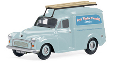 Model Railway Shop - Hornby Skaleautos - Roy's Window Cleaning - Morris Minor Van R7005