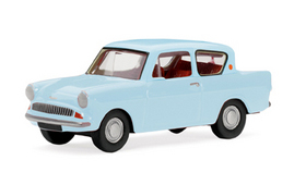 Model Railway Shop - Hornby Skaleautos - Ford Anglia 105E Saloon Pale Blue R7028