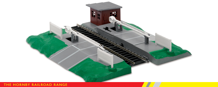 Model train level crossing lights