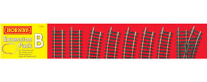 Hornby Model Railway Extension Track Pack B - R8222