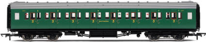 Hornby Model Railway Coaches - R4336A SR Maunsell Corridor 3rd Class Coach