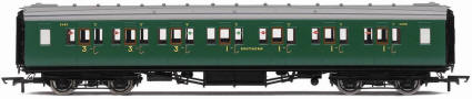 Hornby Model Railway Trains - R4338C SR Maunsell Corridor Composite High Window Small