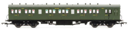 Hornby SR 58' Maunsell Rebuilt (Ex-LSWR 48�) Six Compartment Lavatory Brake Composite, SR Olive - R4719