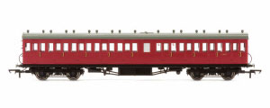 R4749A - Hornby BR 58' Maunsell Rebuilt (Ex-LSWR 48') Nine Compartment Third Class Coach 'S280S', Maroon