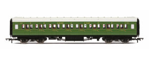 R4769 - Hornby SR Maunsell Corridor Third Class �1224�, Olive