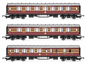 Hornby RailRoad LMS Coaches, three pack, 'Coronation Scot' - Era 3 - R4873
