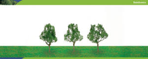 Model Railway Shop - Hornby Scalescenics - Deciduous Trees x3 (63mm) - R8912