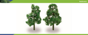 Model Railway Shop - Hornby Scalescenics - Eco Sycamore Trees (88mm-100mm) x2 - R8933
