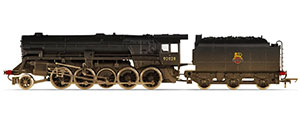 R3756 - Hornby BR (Heavily Weathered), Crosti Boiler 9F Class, 2-10-0, 92028 - Era 4