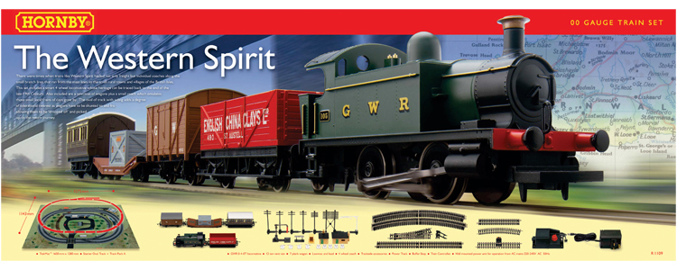 Discontinued R1109 Hornby The Western Spirit Train Set