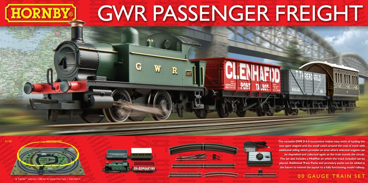 R1138 Hornby GWR Passenger Freight Train Set - New ...