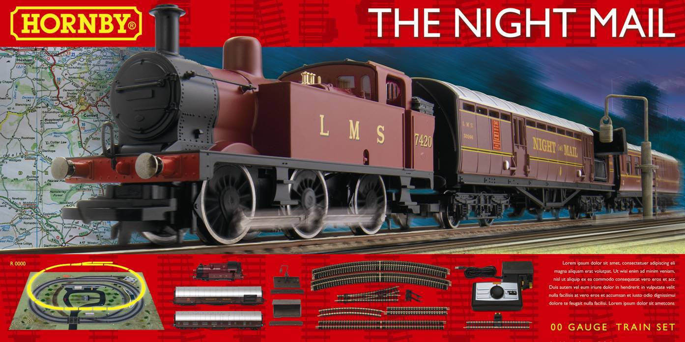 R1144 Hornby The Night Mail Train Set - New Modellers Shop