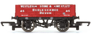 Hornby 'Westleigh Stone & Lime Co. Ltd' - 4 Plank Wagon - R6743