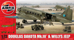 Airfix - Douglas Dakota MkIII with Willys Jeep - 1:72 (A09008)