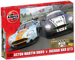 Airfix -  Jaguar XKRGT3 APEX Racing and Aston Martin DBR9 Gulf Gift Set - 1:32 (A50111)
