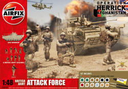 Airfix British Army Attack Force Gift Set - 1:48 (A50161)