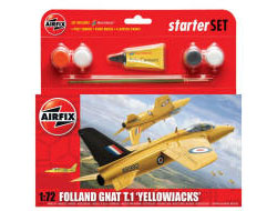 Airfix - Folland Gnat 'Yellowjacks' Starter Set 1:72 (A55112)