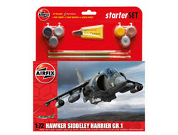 Airfix - Hawker Harrier GR1 Starter Set 1:72 (A55205)