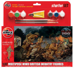 Airfix - WWII British Infantry Multipose - 1:32  (A55211)