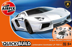 Airfix Quick Build - Lamborghini Aventador (White) - J6019