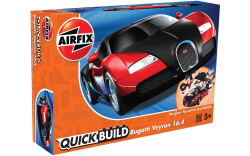 Airfix Quick Build - Bugatti Veyron (Black & Red) - J6020