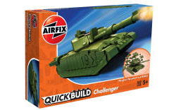 Airfix Quick Build - Challenger Tank (Green) - J6022