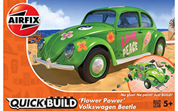 Airfix - QUICKBUILD VW Beetle �Flower Power� (AJ6031)