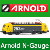 Arnold N Gauge Model Railway - Hornby International - Scale 1:160 - Locomotives, Wagons, Coaches, Track, Points