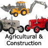 Diecast Model Agricultural and Construction Vehicles - 1:76 OO Gauge Model Railway Tractors, Diggers, Dumpers, Excavator