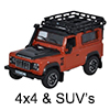 Diecast Model 4x4 and SUV Vehicles - 1:76 OO Gauge Model Railway Vehicles