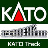 Kato Model Railway Uni Track - Second Radius and Third Radius, Straight and Curved and Power Track