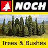 Noch Trees and Bushes - Model Railway Scenery