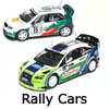 New Modellers Shop - Model Scalextric Rally Cars - Subaru Impreza, Ford Focus, Seat Leon, Skoda Fabia, Peugeot 307,