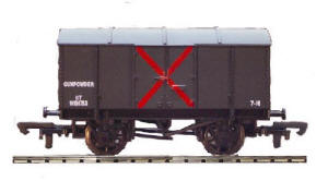 Dapol Model Railway Wagon - GWR Gunpowder Wagon - B349