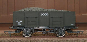 Dapol Model Railway Wagon - Dapol 20T Steel Mineral GWR Loco Coal  - B823