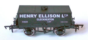 Dapol Model Railway Wagon - Rectangular Tank Henry Ellison - B876