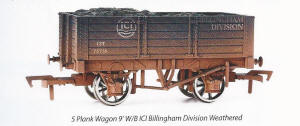Dapol Model Railway Wagon - ICI 5 Plank Wagon Weathered - B901W