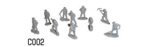 Dapol Model Railway Plastic Kits - Railway Workmen - C002