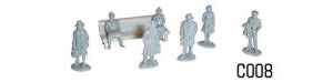 Dapol Model Railway Plastic Kits - Platform Figures - C008