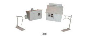 Dapol Model Railway Plastic Kits - Hut Coal Office and Water Crane