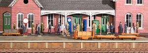 Dapol Model Railway Plastic Kits - Station Accessories - C012