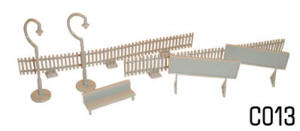 Dapol Model Railway Plastic Kits - Platform Fittings - C013
