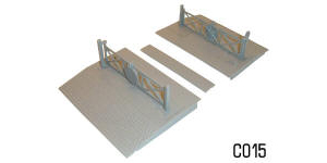 Dapol Model Railway Plastic Kits - Level Crossing - C015
