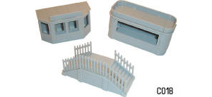 Dapol Model Railway Plastic Kits - Kiosk and steps - C018