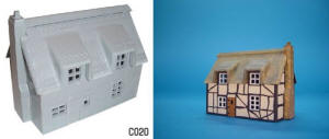 Dapol Model Railway Plastic Kits - Thatched Cottage - C020