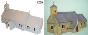 Dapol Model Railway Plastic Kits - Village Church - C029