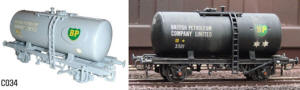 Dapol Model Railway Plastic Kits - 20T Tanker BP - C034