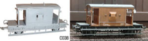 Dapol Model Railway Plastic Kits - BR Brake Van - C038